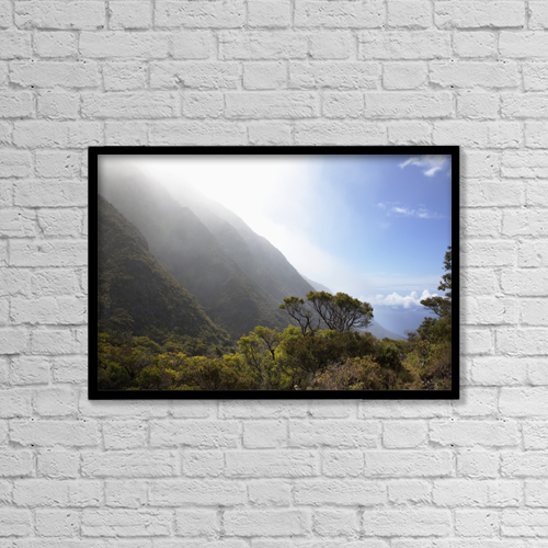 "Printscapes Wall Art: 18"" x 12"" Canvas Print With Black Frame - Hawaii, Maui, Lush foliage in Kaupo Gap by Jenna Szerlag"
