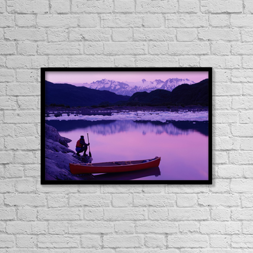 "Printscapes Wall Art: 18"" x 12"" Canvas Print With Black Frame - Scenic by Michael DeYoung"