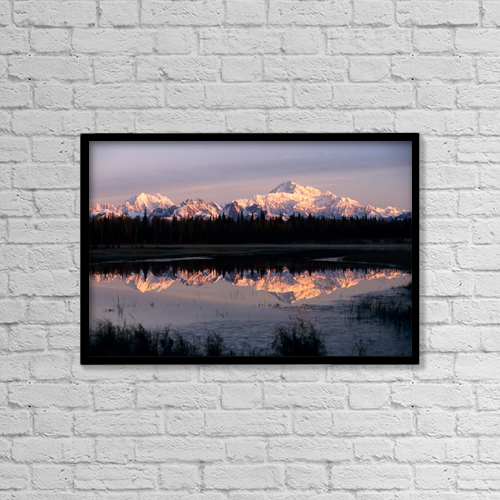 """Printscapes Wall Art: 18"""" x 12"""" Canvas Print With Black Frame - Southside Mt by Jeff Schultz"""