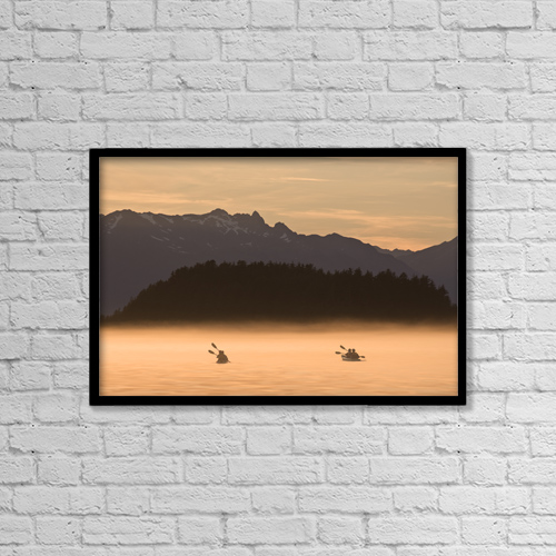 "Printscapes Wall Art: 18"" x 12"" Canvas Print With Black Frame - Scenic by John Hyde"