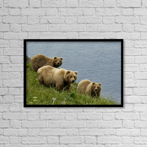 """Printscapes Wall Art: 18"""" x 12"""" Canvas Print With Black Frame - Travel by Cathy Hart"""