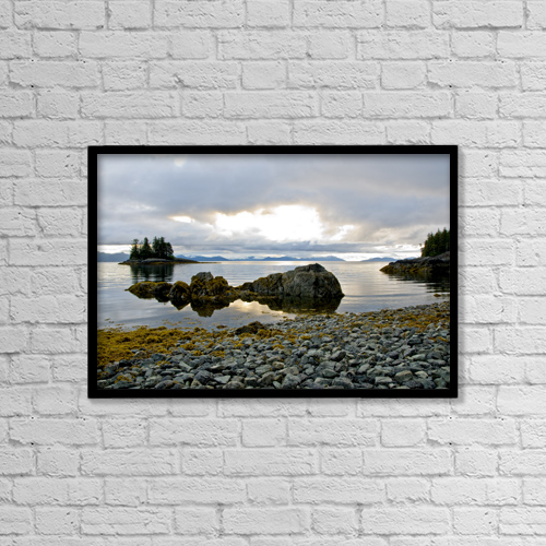 """Printscapes Wall Art: 18"""" x 12"""" Canvas Print With Black Frame - Scenic by Cathy Hart"""
