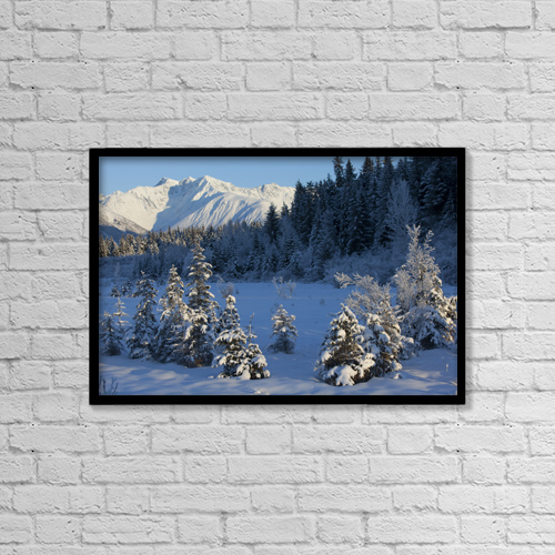 """Printscapes Wall Art: 18"""" x 12"""" Canvas Print With Black Frame - Scenic by Doug Lindstrand"""