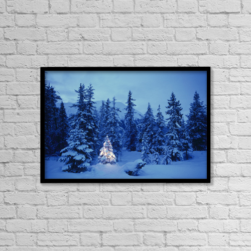 """Printscapes Wall Art: 18"""" x 12"""" Canvas Print With Black Frame - Scenic by Randy Brandon"""