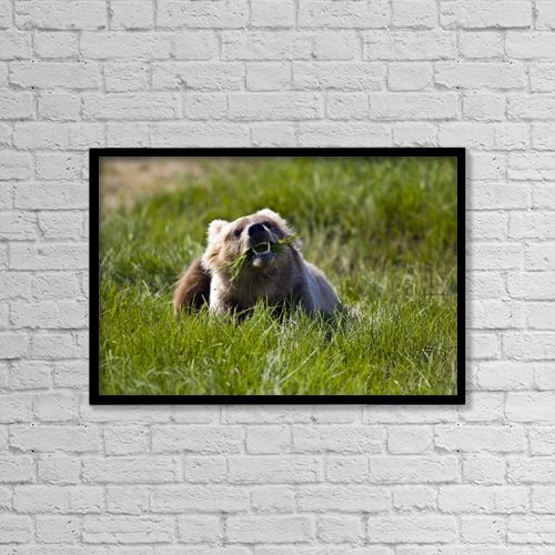 "Printscapes Wall Art: 18"" x 12"" Canvas Print With Black Frame - Food by Don Pitcher"