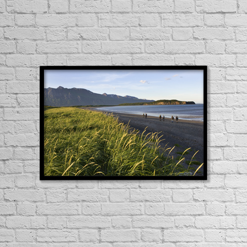 "Printscapes Wall Art: 18"" x 12"" Canvas Print With Black Frame - Scenic by Don Pitcher"