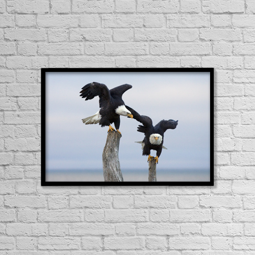 """Printscapes Wall Art: 18"""" x 12"""" Canvas Print With Black Frame - Lifestyle by Doug Lindstrand"""