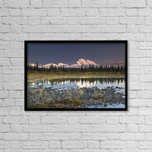 "Printscapes Wall Art: 18"" x 12"" Canvas Print With Black Frame - Scenic by John Delapp"