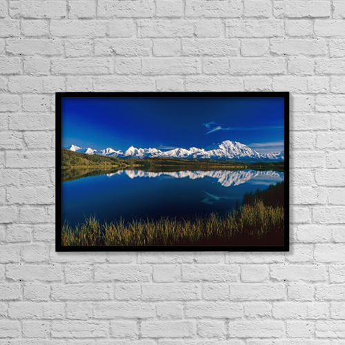 "Printscapes Wall Art: 18"" x 12"" Canvas Print With Black Frame - Scenic by John Warden"