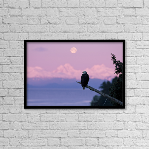 """Printscapes Wall Art: 18"""" x 12"""" Canvas Print With Black Frame - Scenic by John Hyde"""