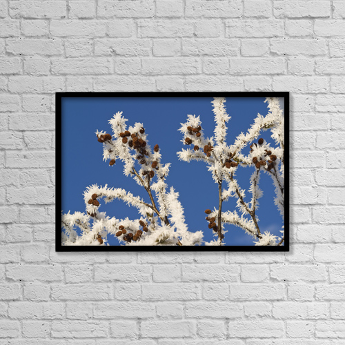 """Printscapes Wall Art: 18"""" x 12"""" Canvas Print With Black Frame - Nature by John Hyde"""