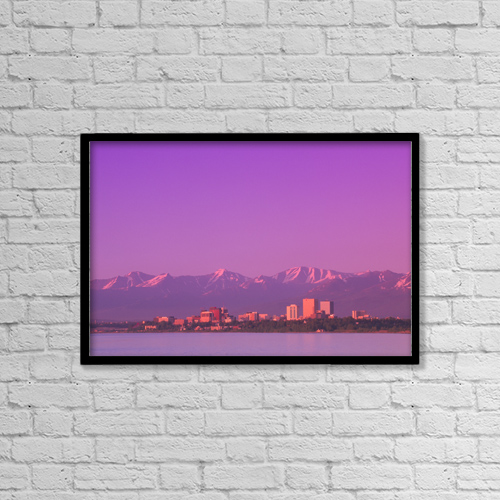 """Printscapes Wall Art: 18"""" x 12"""" Canvas Print With Black Frame - Travel by Kevin G. Smith"""