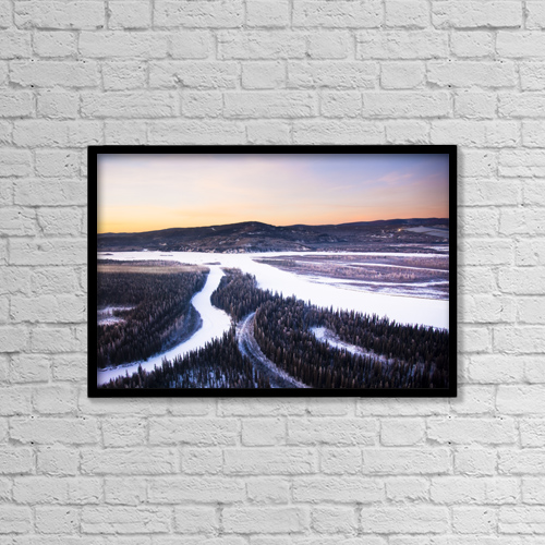 """Printscapes Wall Art: 18"""" x 12"""" Canvas Print With Black Frame - Scenic by Kevin G. Smith"""