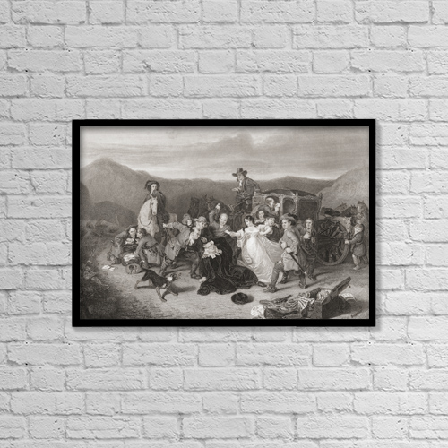 "Printscapes Wall Art: 18"" x 12"" Canvas Print With Black Frame - The Murder Of Archbishop Sharp by Ken Welsh"