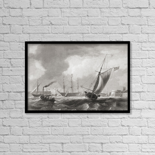 "Printscapes Wall Art: 18"" x 12"" Canvas Print With Black Frame - Sports and Recreation by Ken Welsh"