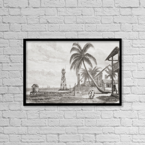 "Printscapes Wall Art: 18"" x 12"" Canvas Print With Black Frame - View Of Col by Ken Welsh"