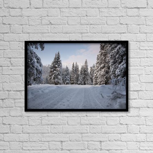 "Printscapes Wall Art: 18"" x 12"" Canvas Print With Black Frame - Scenic by Jeff Schultz"