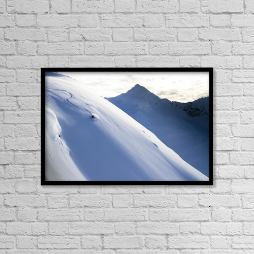 "Printscapes Wall Art: 18"" x 12"" Canvas Print With Black Frame - Scenic by Joe Stock"