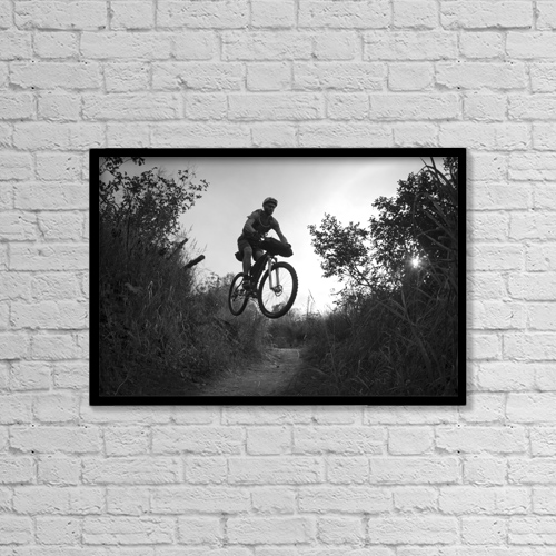"""Printscapes Wall Art: 18"""" x 12"""" Canvas Print With Black Frame - Sports and Recreation by Joe Stock"""
