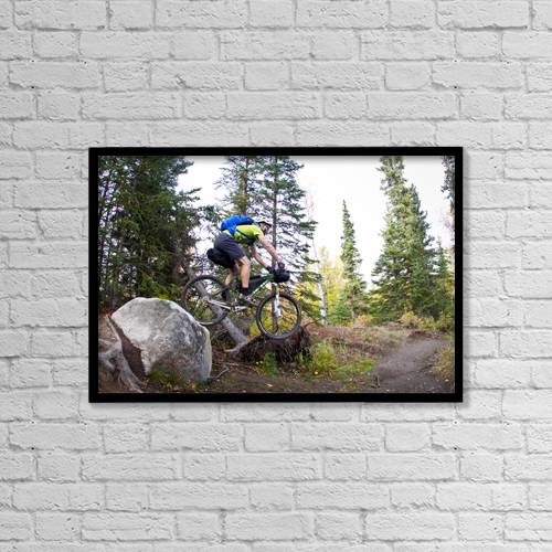 "Printscapes Wall Art: 18"" x 12"" Canvas Print With Black Frame - Sports and Recreation by Joe Stock"