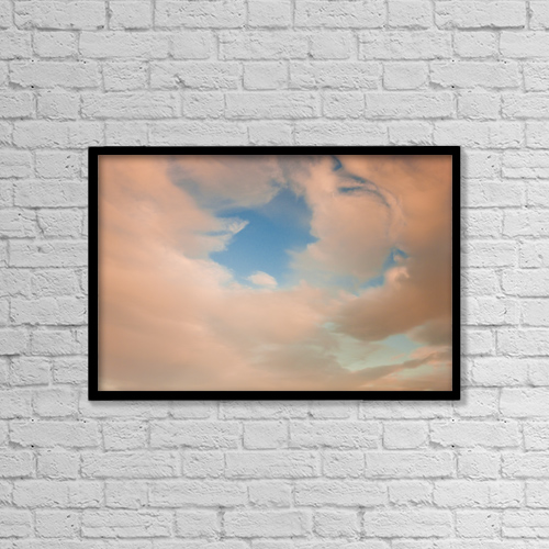 "Printscapes Wall Art: 18"" x 12"" Canvas Print With Black Frame - View Of Clouds At Sunset, Alaska by Kevin G. Smith"