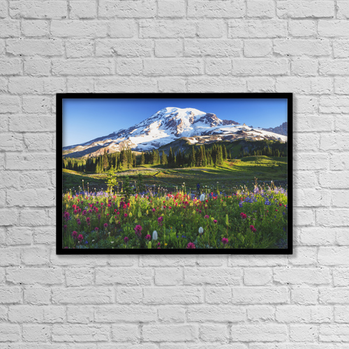 "Printscapes Wall Art: 18"" x 12"" Canvas Print With Black Frame - Scenic by Stuart Westmorland"