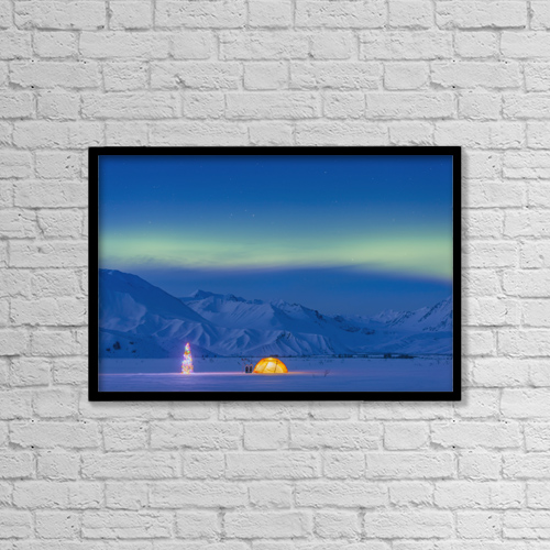 "Printscapes Wall Art: 18"" x 12"" Canvas Print With Black Frame - Astronomy by Kevin G. Smith"