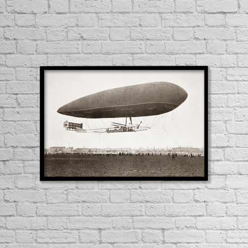 """Printscapes Wall Art: 18"""" x 12"""" Canvas Print With Black Frame - Transportation by Ken Welsh"""