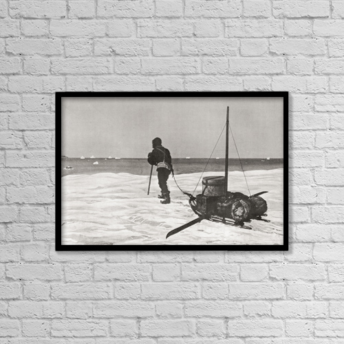 "Printscapes Wall Art: 18"" x 12"" Canvas Print With Black Frame - Dr by Ken Welsh"