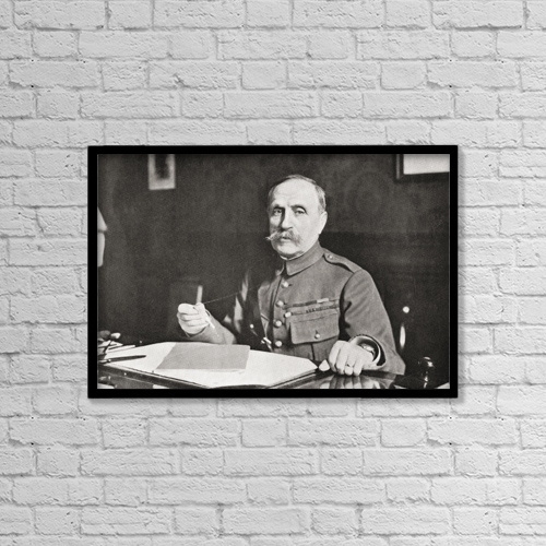 "Printscapes Wall Art: 18"" x 12"" Canvas Print With Black Frame - Marshal Ferdinand Foch, 1851 by Ken Welsh"