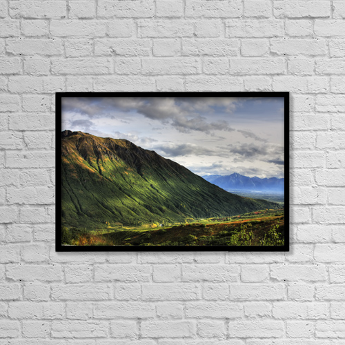 "Printscapes Wall Art: 18"" x 12"" Canvas Print With Black Frame - Scenic by Mike Criss"
