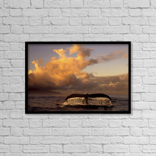 "Printscapes Wall Art: 18"" x 12"" Canvas Print With Black Frame - Scenic by Ron Sanford"