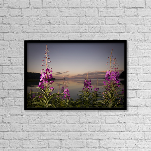 "Printscapes Wall Art: 18"" x 12"" Canvas Print With Black Frame - Scenic by Jim Kohl"
