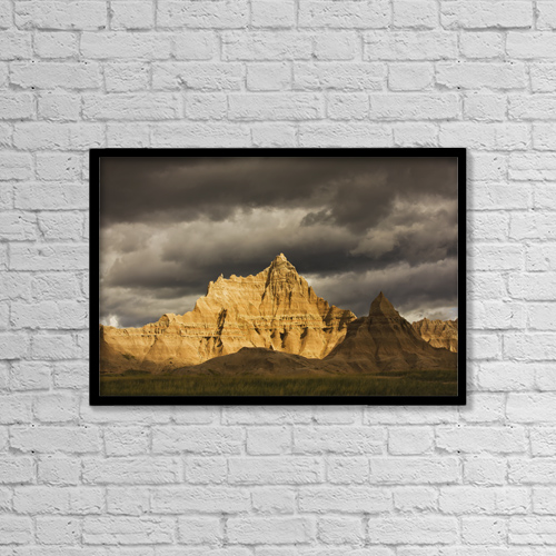 "Printscapes Wall Art: 18"" x 12"" Canvas Print With Black Frame - Nature by Robert Postma"
