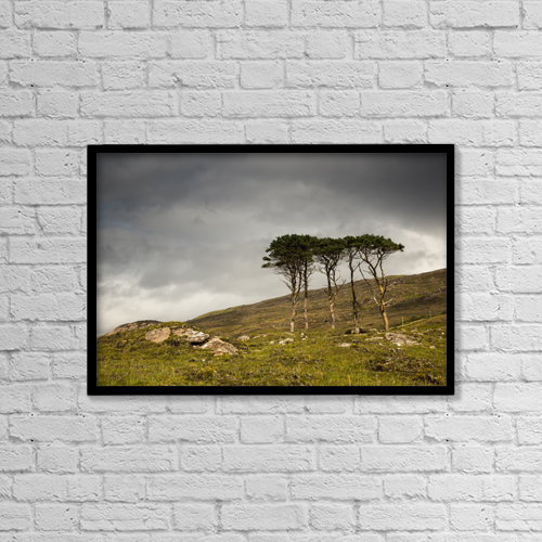 """Printscapes Wall Art: 18"""" x 12"""" Canvas Print With Black Frame - Nature by John Short"""