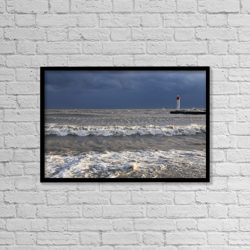 "Printscapes Wall Art: 18"" x 12"" Canvas Print With Black Frame - Weather by Mary Ellen McQuay"