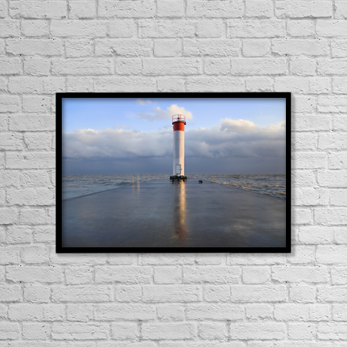 "Printscapes Wall Art: 18"" x 12"" Canvas Print With Black Frame - Architectural Exteriors by Mary Ellen McQuay"
