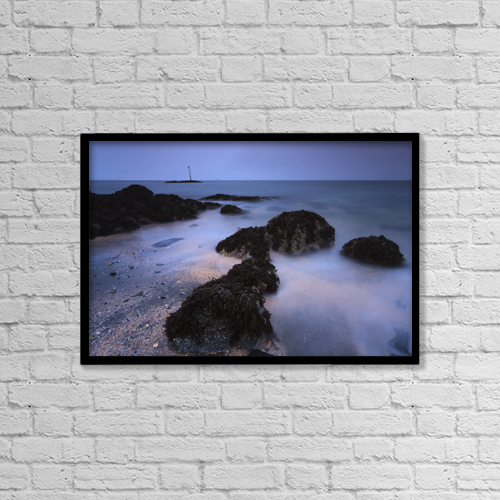 "Printscapes Wall Art: 18"" x 12"" Canvas Print With Black Frame - Scenic by Quentin Smith"