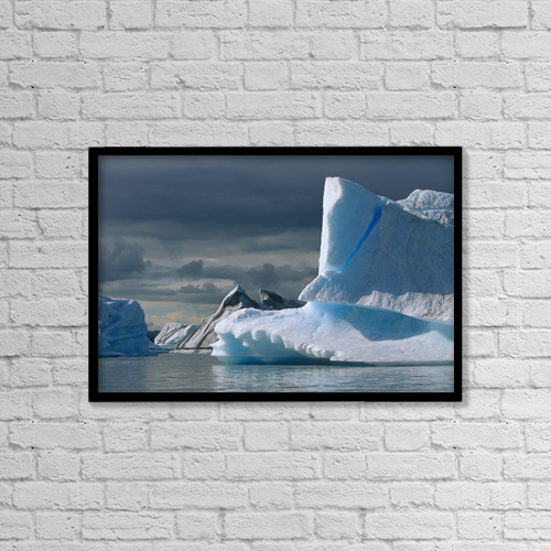 """Printscapes Wall Art: 18"""" x 12"""" Canvas Print With Black Frame - Scenic by R.E. Johnson"""