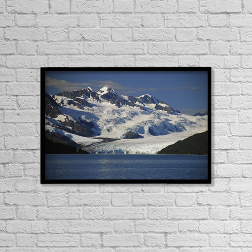 "Printscapes Wall Art: 18"" x 12"" Canvas Print With Black Frame - Scenic by Bill Rome"
