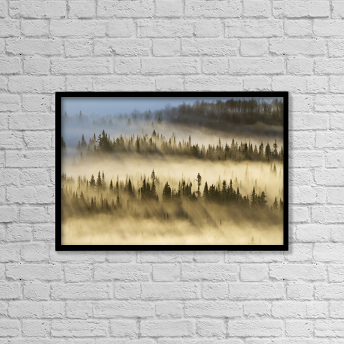 "Printscapes Wall Art: 18"" x 12"" Canvas Print With Black Frame - Nature by Philippe Henry"