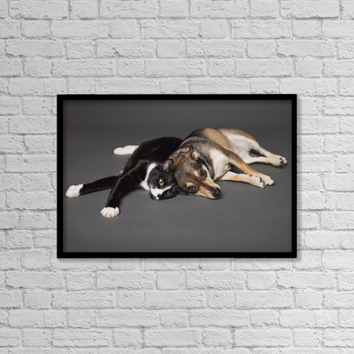 "Printscapes Wall Art: 18"" x 12"" Canvas Print With Black Frame - Animals by Leah Bignell"