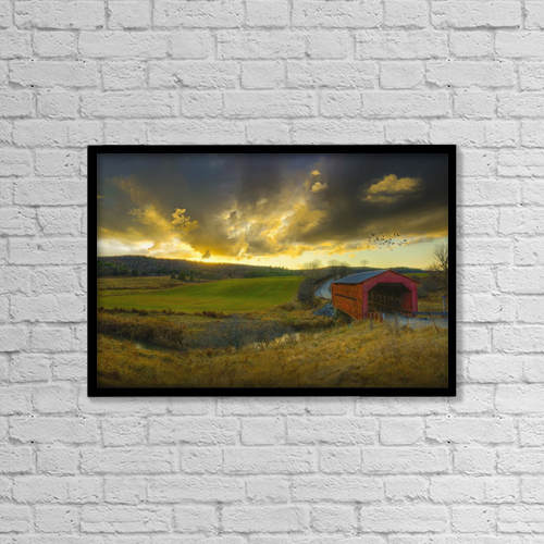 "Printscapes Wall Art: 18"" x 12"" Canvas Print With Black Frame - Scenic by Richard Desmarais"
