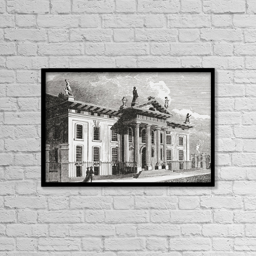 """Printscapes Wall Art: 18"""" x 12"""" Canvas Print With Black Frame - Architectural Exteriors by Ken Welsh"""