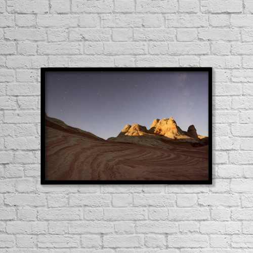 "Printscapes Wall Art: 18"" x 12"" Canvas Print With Black Frame - Astronomy by Peter Carroll"