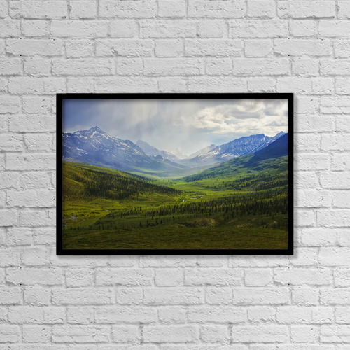 """Printscapes Wall Art: 18"""" x 12"""" Canvas Print With Black Frame - Scenic by Robert Postma"""