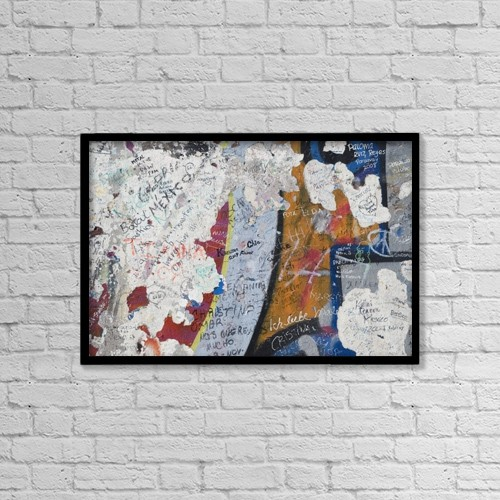 "Printscapes Wall Art: 18"" x 12"" Canvas Print With Black Frame - Germany, Berlin Wall; Berlin by Teresa Arévalo"