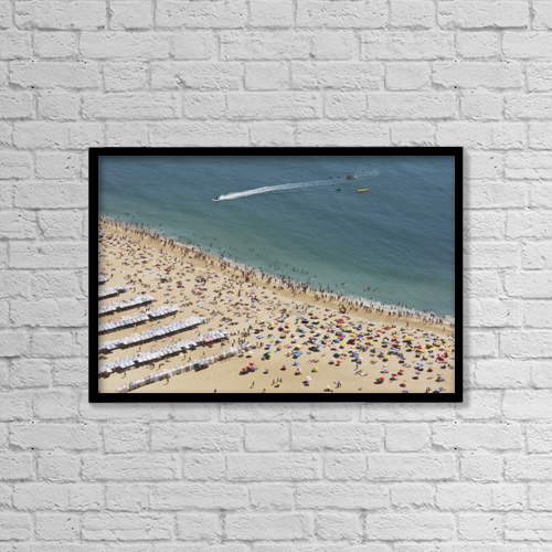"Printscapes Wall Art: 18"" x 12"" Canvas Print With Black Frame - Travel by Heather Elton"