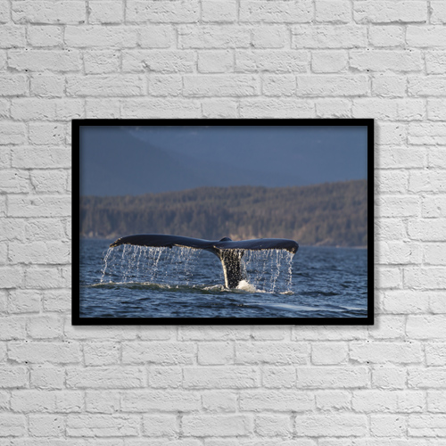 "Printscapes Wall Art: 18"" x 12"" Canvas Print With Black Frame - Animals by Lynn Wegener"