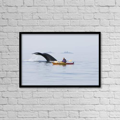 "Printscapes Wall Art: 18"" x 12"" Canvas Print With Black Frame - Sports and Recreation by Tom Soucek"